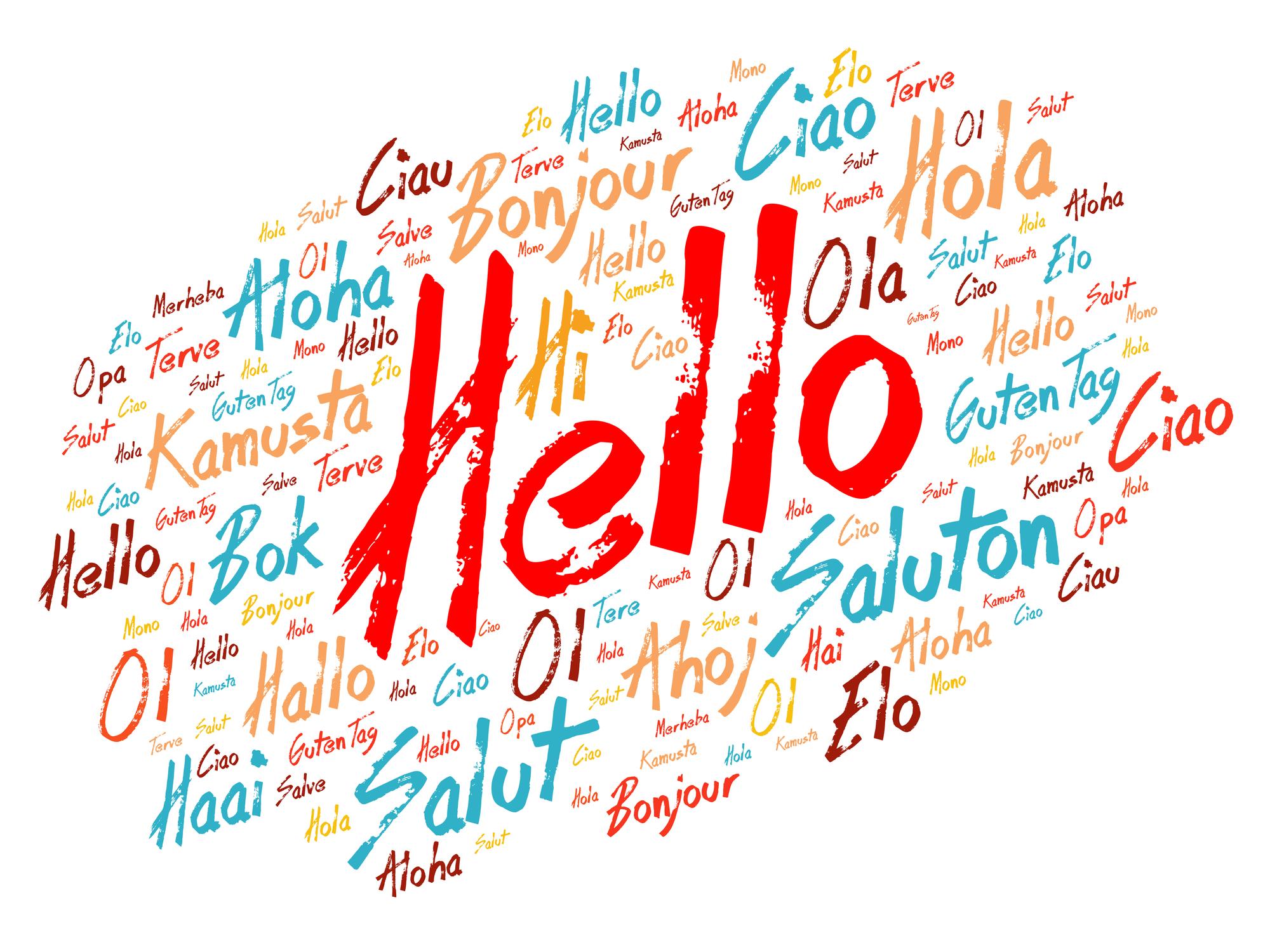 Stylished hello word