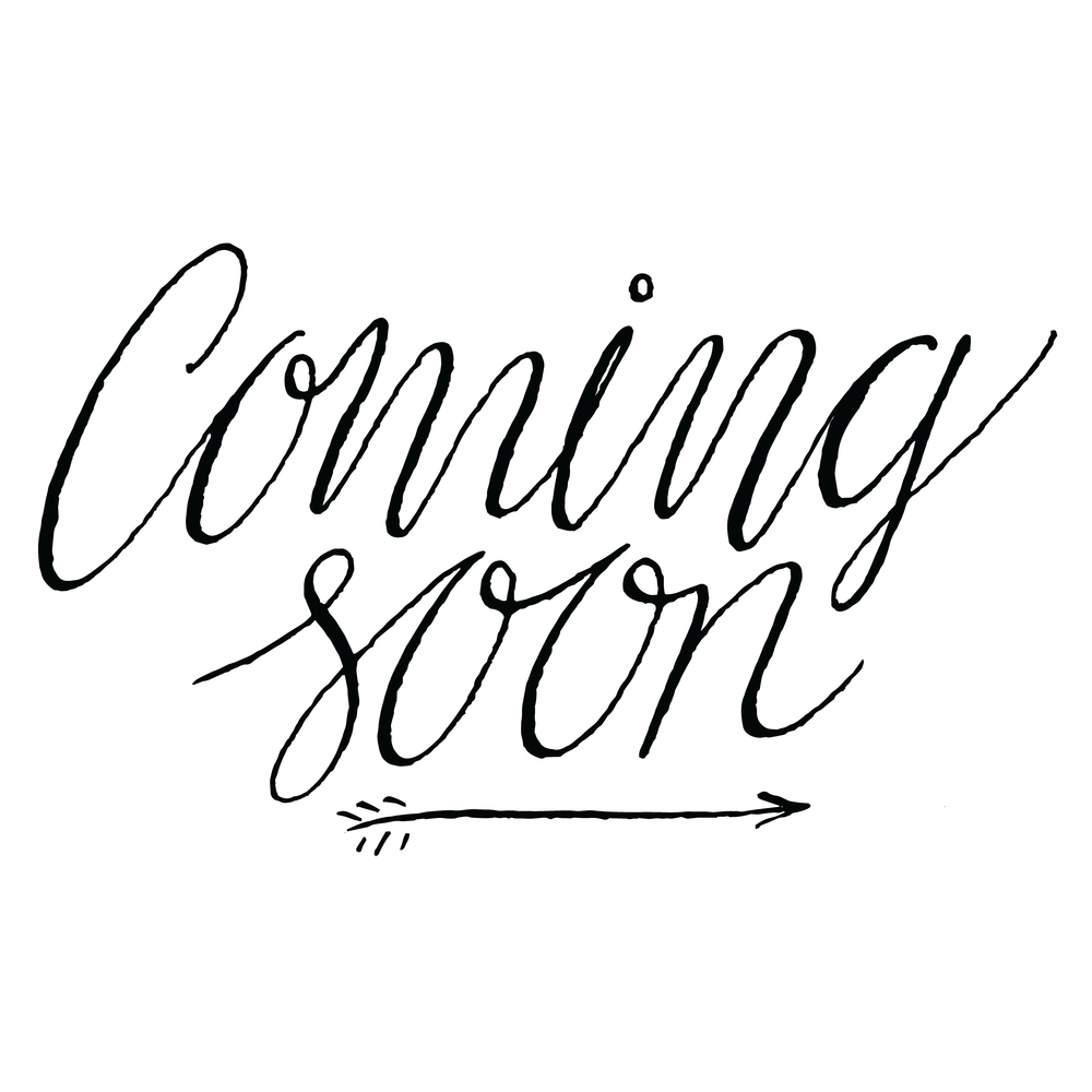 A styled visualization of 'coming soon'