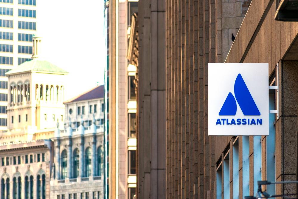 Atlassian logo at HQ