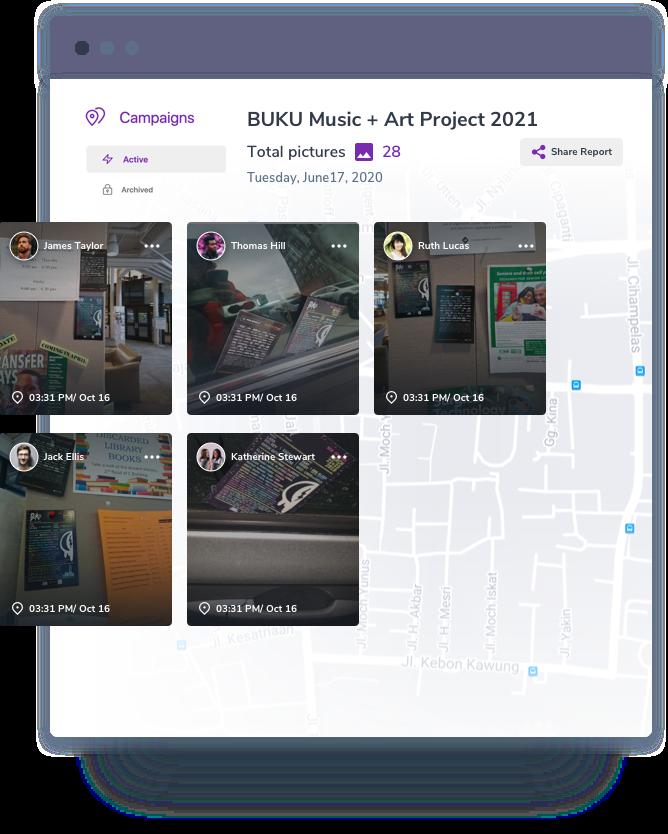 A screenshot of SimpleCrew campaign