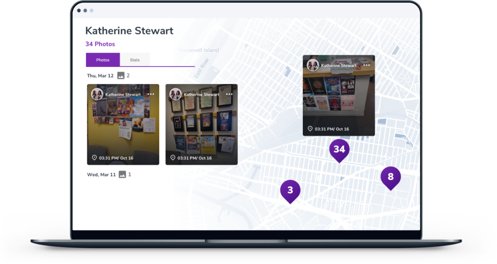 A stylished screenshot of SimpleCrew campaign in the web app