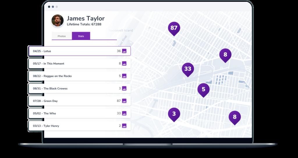 A screenshot of the leaderboard in SimpleCrew web app