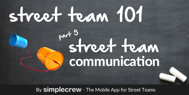 Street team 101, part 5, visual for the post