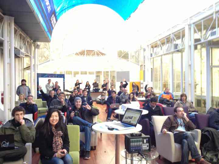 A photo from startup Chile community