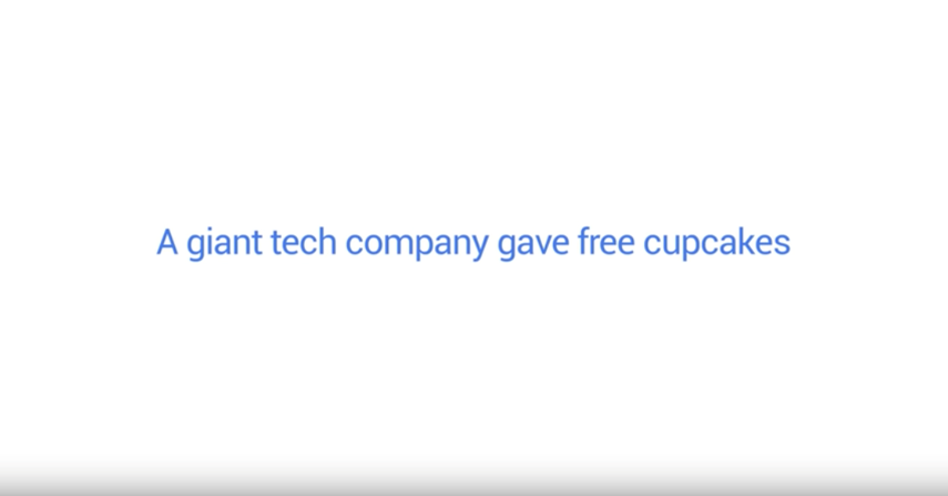 A giant tech company gave free cupcakes