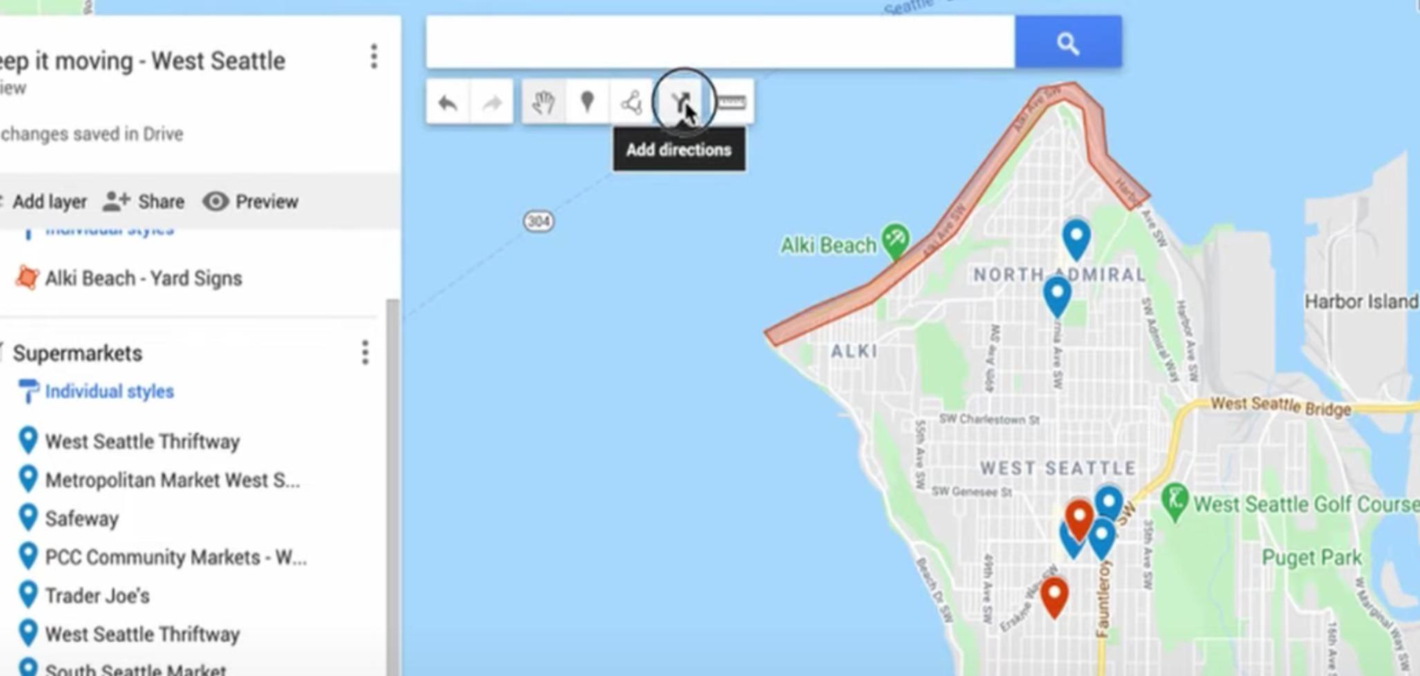 Add directions visualization