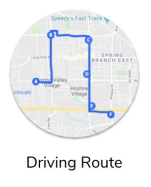 The sample of driving route