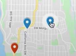 Pins on the map visualization