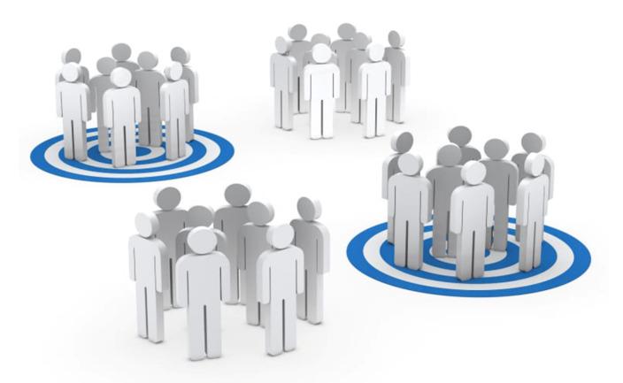 Vizualisation of customers' segmentation
