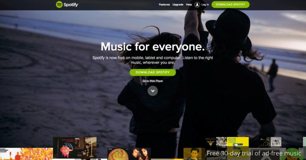 A screenshot of Spotify app